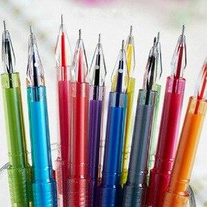 12 цветов/набор алмазных кристаллов цветные гелевые ручки набор школьных принадлежностей цветные гелевые ручки цветной карандаш подарок эс...