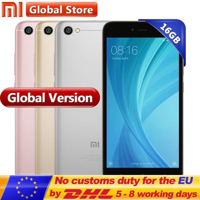 """Глобальная версия Xiaomi Redmi Note 5A 2 ГБ 16 ГБ мобильного телефона Redmi Note5A Смартфон Snapdragon 425 5.5 """"13.0MP"""