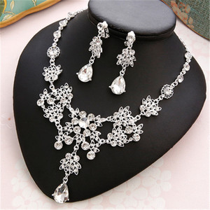 Image 4 - CC Wedding Engagement Jewelry Necklace Earrings Bracelets 2Pcs Sets Bridal Hair Accessories For Cubic Zircon Pearl Charm m011