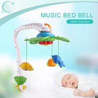 New 2 in 1 Newborn Baby Rattle Mobile Music Bed Bell Rattles Baby Music Box Bed Bell Toy Set Gift for Baby