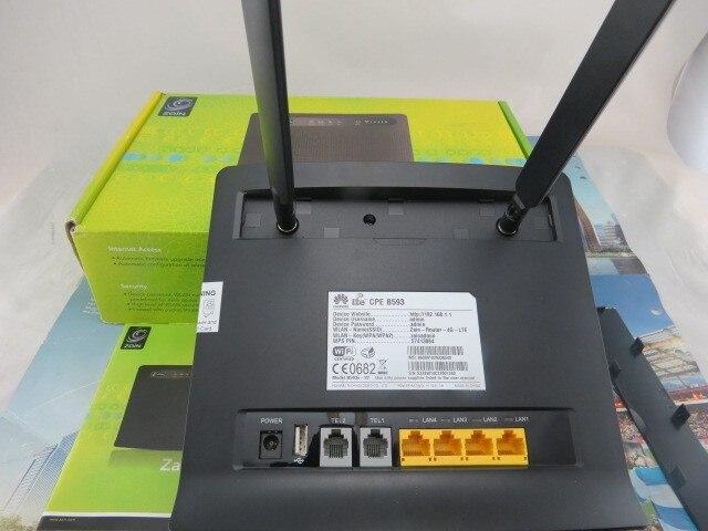Huawei B593 (B593s-22) 4 Г LTE FDD TDD 100 Мбит Беспроводной Wi-Fi WLAN Модем-Маршрутизатор + пара B593 антенна