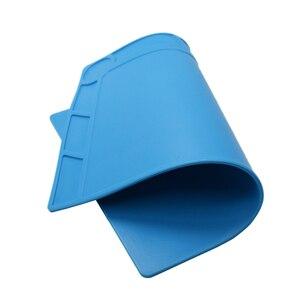 Image 5 - Tapis de soudure Silicone résistant à la chaleur, pistolet à chaleur BGA, Station de soudure, tampon disolation, outils de réparation, plate forme dentretien, tapis de bureau
