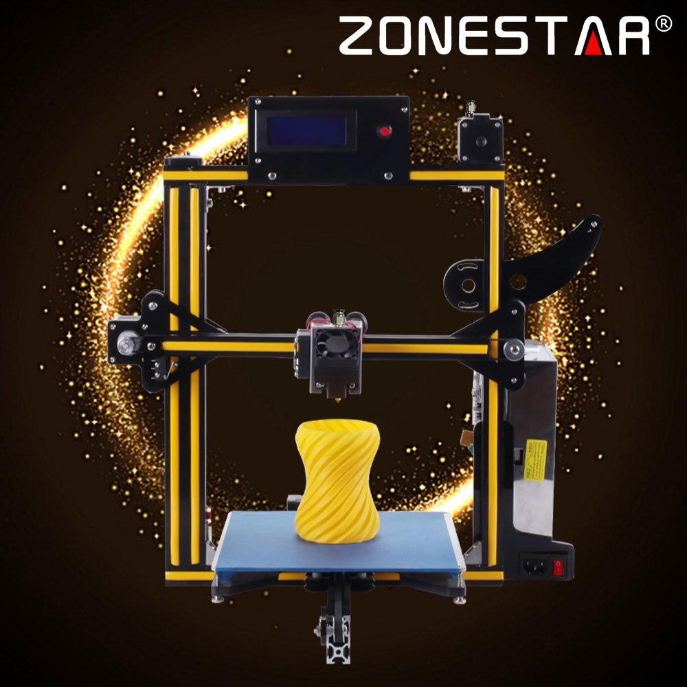 Zonestar 3D Imprimante En Métal Plein Cadre En Aluminium Auto Nivellement Filament Run-out Détecter 3 d Imprimante En Option Double Ou couleur mélangée