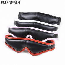 PU Leather Sponge Blindfold Bdsm Mask Adult Games Sex Toys for Woman Accessories Erotic Couple Black/White/Red/Pink