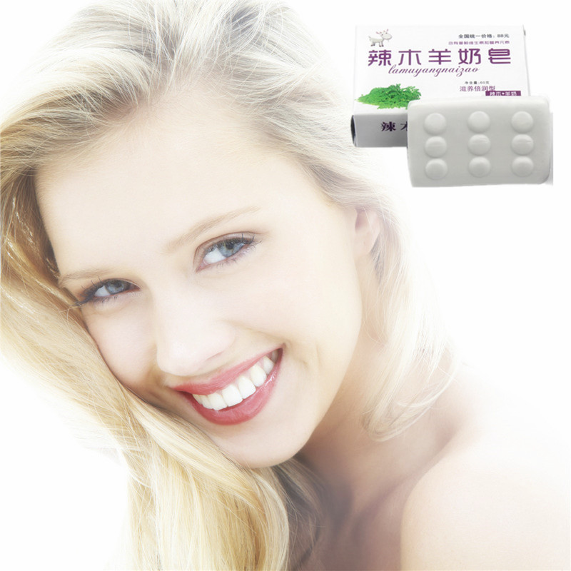 40g/Pcs Face Care Handmade Soap Moisturizing Goat Milk Coconut Oil Soap Anti Wrinkle Facial Clean Whitening Lifting Firming Soap