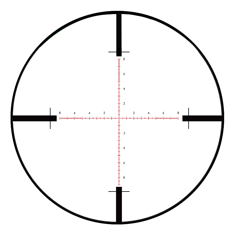 T-Eagle SR 8X44 SFSS Hunting Riflescopes Side Parallax Glass Etched Reticle Turrets Lock Reset Fixed Magnification 8X Scope (2)