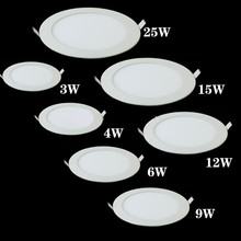 Led-Panel-Light Dimmable Ceiling-Recessed-Downlight Round Led Ultra-Thin AC85-265V 9w