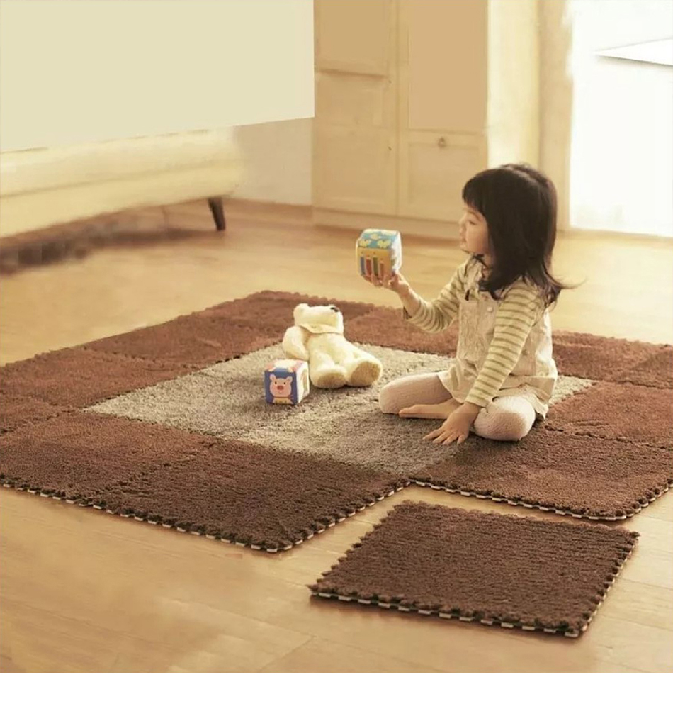 HTB1J0BlRmzqK1RjSZFjq6zlCFXae 10Pcs/Lot Children's Rug Soft Plush Baby Play Mat Toys Eva Foam Kids Rug Puzzle Children's Mat Interlock Floor Playmat 30*30 CM