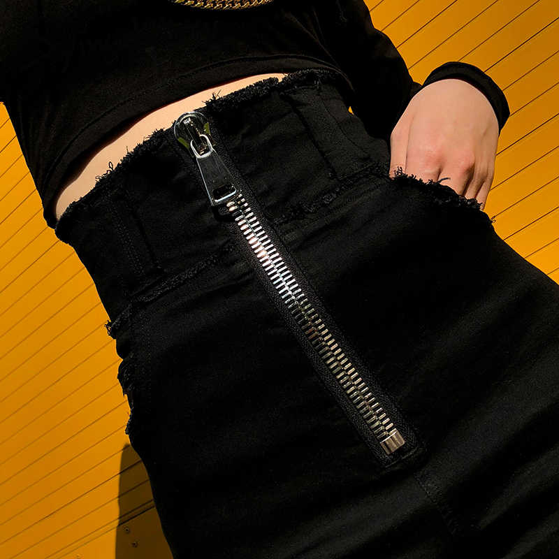 Женские шорты с высокой талией черные женские джинсы корейские модные женские эластичные растягивающиеся женские джинсы потертые джинсовые узкие брюки