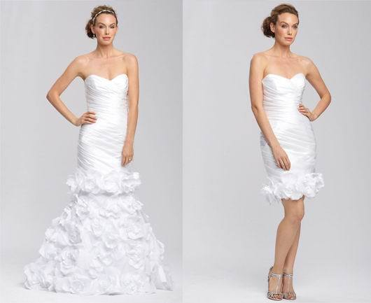 2015 Sweeetheart Wedding Dress Detachable Skirt Wedding