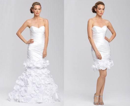 2015 Sweeetheart Wedding Dress Detachable Skirt Wedding