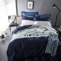 2016 Новый стиль Мода Стиль queen/Полный/двухместная кровать Лен Набор Комплект постельного белья распродажа постельное белье одеяло cover220cmx240cm
