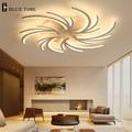 Минималистичные креативные современные светодиодные потолочные лампы для гостиной  спальни  белого цвета  домашняя Светодиодная потолочн...