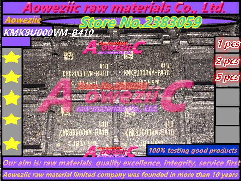 Aoweziic 100% test good quality KMK8U000VM-B410 BGA Memory chip KMK8U000VM B410