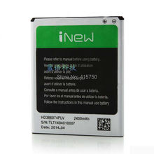 Original inew v8 hd386074plv 2400mha bateria para inew v8 5.5 polegada mtk6591 hexa núcleo móvel 1280x720 smartphone --- frete grátis