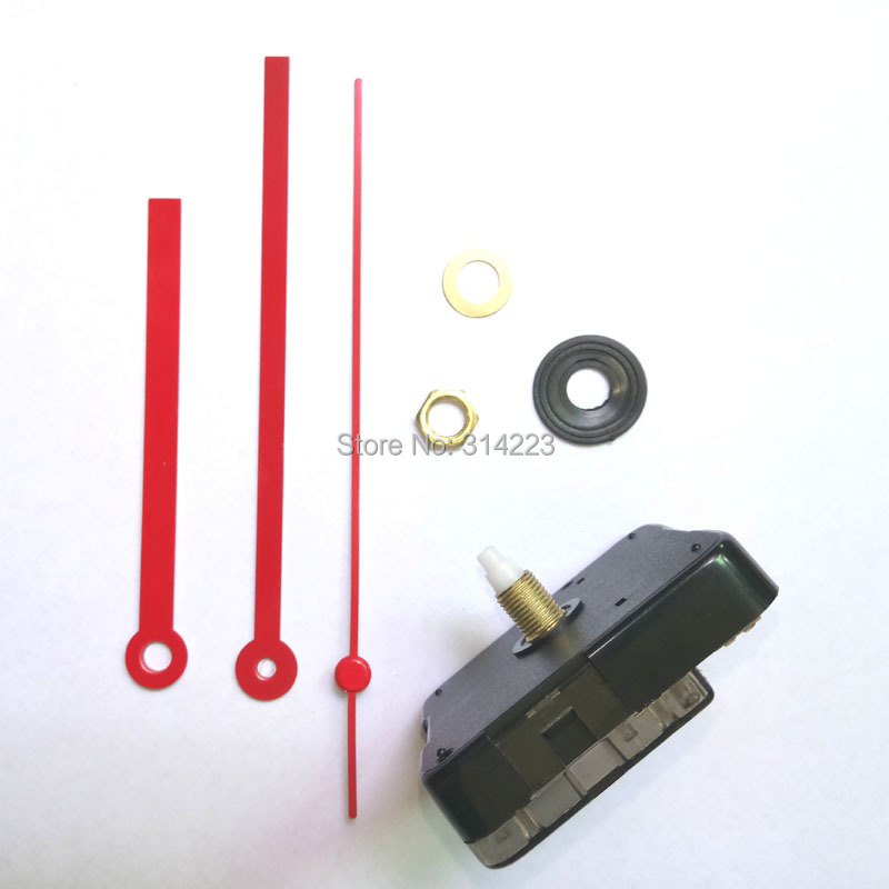 Wholesale 50 set New Quartz Clock Movement for Clock Mechanism Repair DIY clock parts accessories shaft