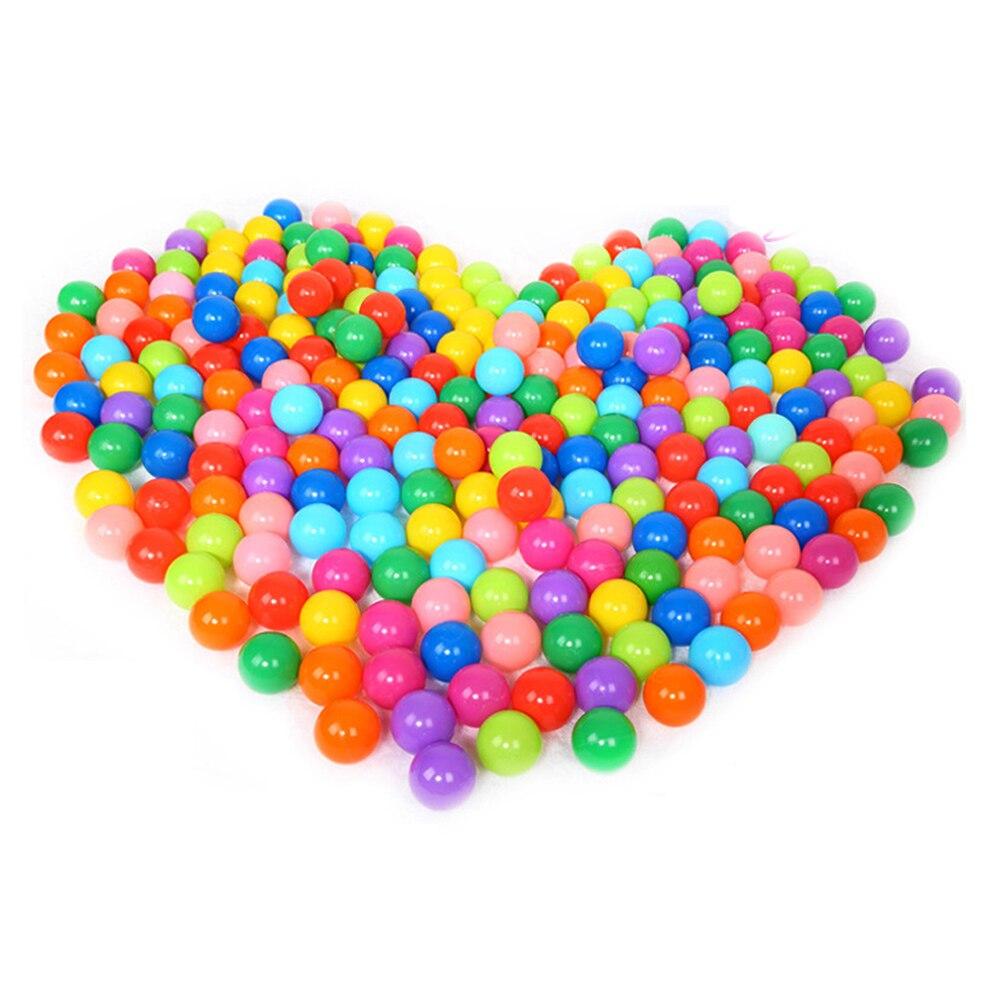 100 unids/lote ecológico colorido plástico blando Water Pool Bola de olas del océano estrés Bola de aire deporte diversión al aire libre divertido carpa juguetes