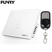 Funry ST2 1Gang US Standard Capacitive Touch Switch Remote Control Luxury Glass Wall Switch Panel Light