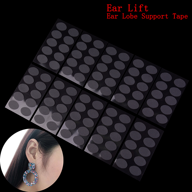 100 Patches Invisible Ear Lift For Ear Lobe Support Tape Perfect For Stretched Ear Lobes And Relieve Strain From Heavy Earrings