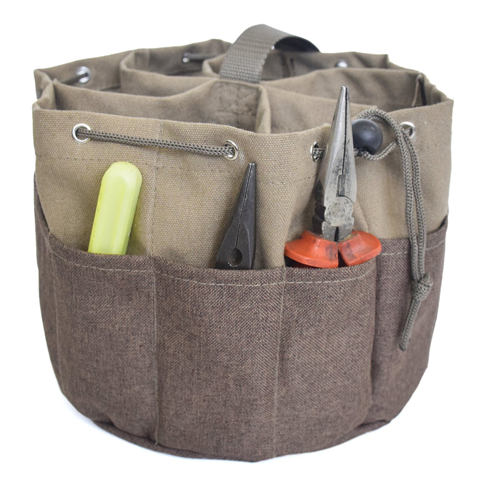 Round Garden Tools Bag Multifunctional Package Electrician Hardware Accessories Storage Bags CLH@8