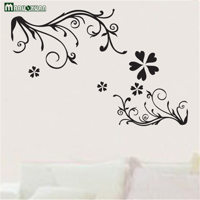 2017 hot sale real wall stickers for kids rooms foreign trade fashion diy simple flowers atmospheric wall decoration stickers in wall stickers from home