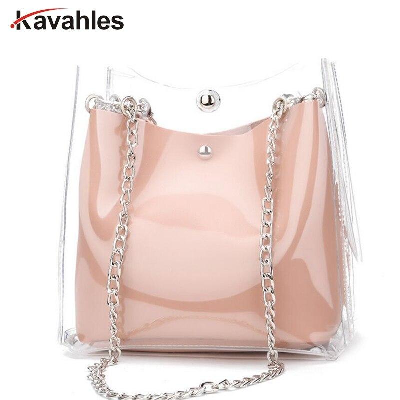Fashion Women Transparent Bag Clear PVC Small Tote Messenger Bags Laser Holographic Shoulder Bag Female Lady Sac A Main  LW-50 алиэкспресс сумка прозрачная