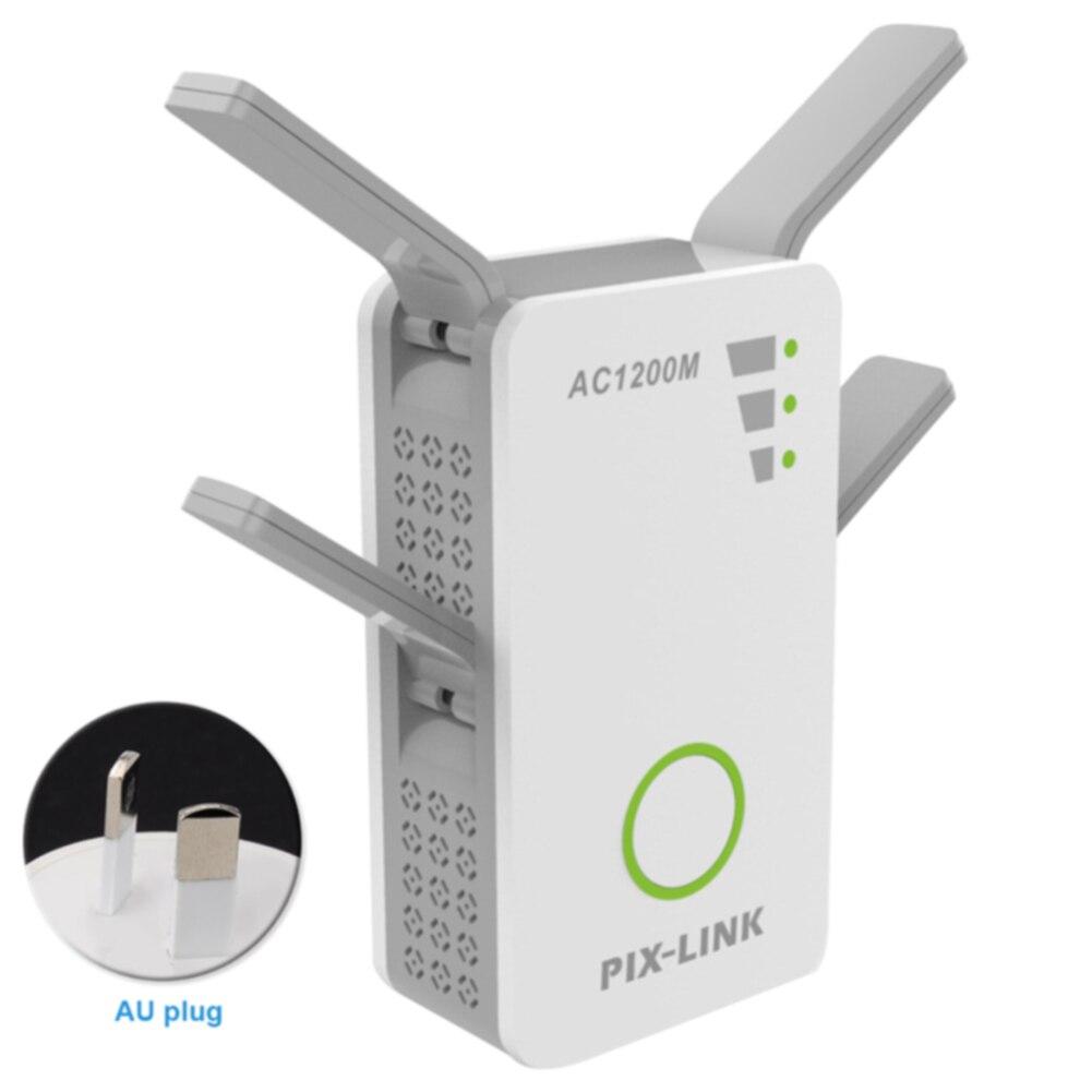 2.4G/5G WiFi répéteur Signal Booster double bande AP 1200 Mbps sans fil AC Extender routeur amplificateur WPS avec 4 antennes à Gain élevé