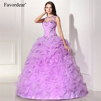 Vestido De 15 Anos Curto 2015 New Purple Quinceanera Dresses Mint Pink Lilac Organza Ball Gowns