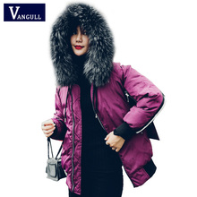 VANGULL Winter Jackets Women Warm Coats 2018 New Fashion Streetwear Thick Parka Striped Contrast Color Jacket Female Outwear