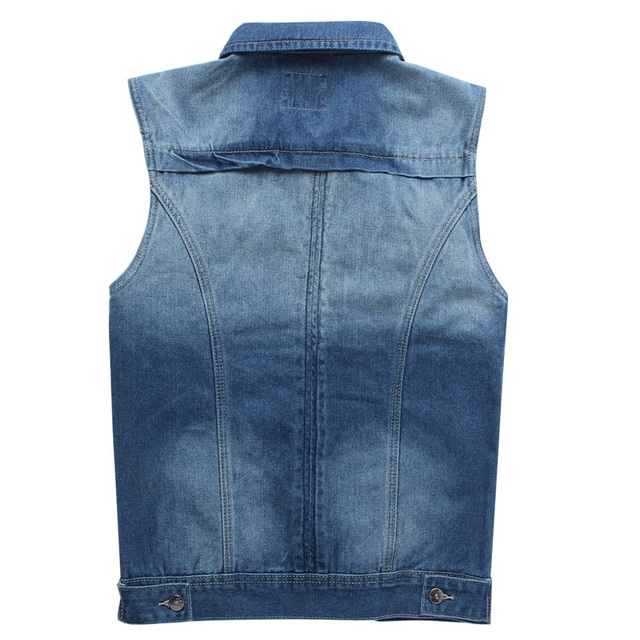 Vomint Mens Denim Jackets Vest Classic Basic Style Slim Regular Type Inside Sawing Streetwear Hip hop Male Big Size