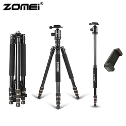 Zomei Protable Aluminum Photographic Travel Camera Tripod Stable Z668 with phone holder Ball head for DSLR iPhone live broadcast
