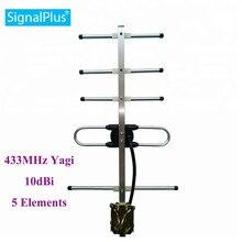 Antenne rf yagi cdma Yagi 5 unités 10DBI antenne 433MHZ antenne extérieure Yagi avec câble de 30 cm.