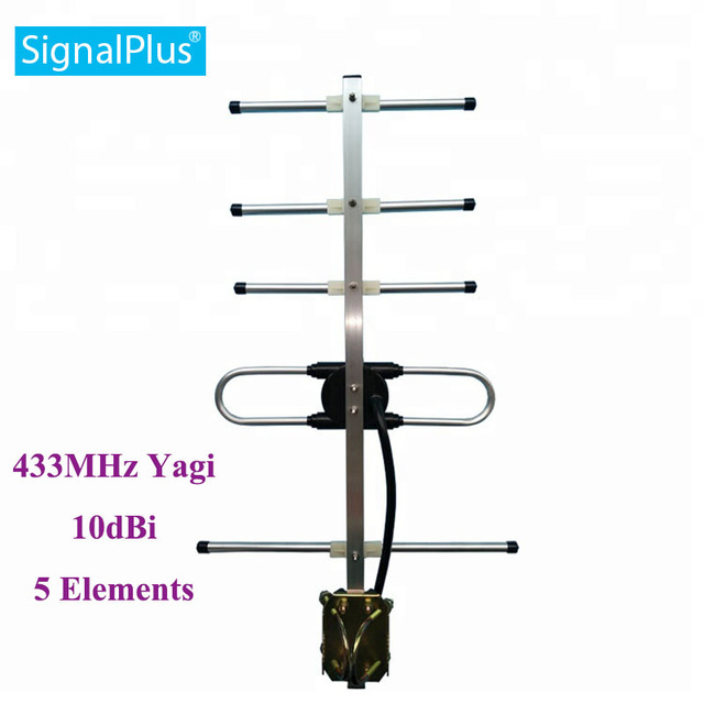 rf yagi antenna cdma Yagi 5 units 10DBI 433MHZ antenna Outdoor Yagi antenna with 30cm cable.