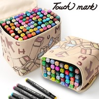 TouchMark 30406080Colors Dual Head Art Markers Pen Oily Alcoholic Sketch Marker Brush Pen Art Supplies for Animation Manga Draw
