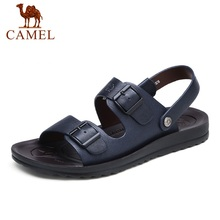 Camel Men 's Sandals Summer Leather Casual Open-Toed Sandals Male Beach Comfortable Sandals A622267142
