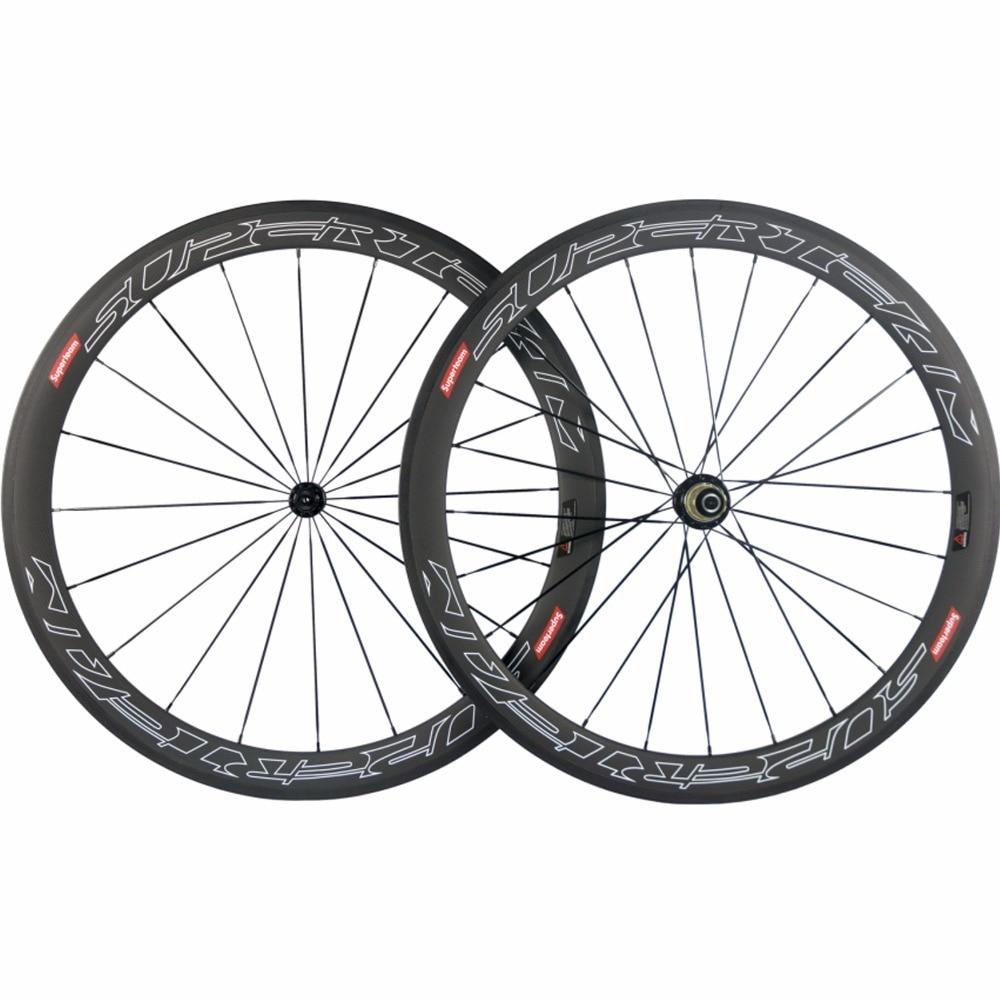 Super light Powerway R13 Carbon Bicycle Wheelset SUPERTEAM 50mm Depth Clincher Road Bike Wheels Basalt Wheels