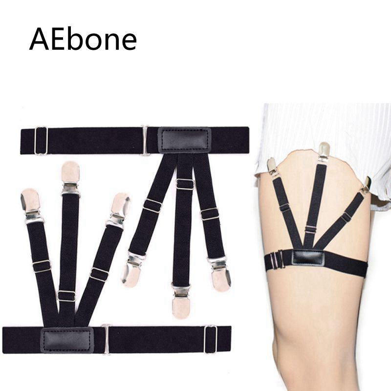 AEbone Mens Shirt Stay Garters Women Elastic Belt Straps Shirt Holders Suspenders For Uniform Wholesale 20 Pieces Sus05