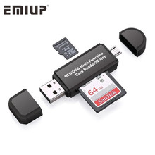 2 In 1 USB OTG Card Reader Micro USB OTG USB 2.0 Adapter Universal OTG TF/SD Card For Android Phone Computer Extension Headers
