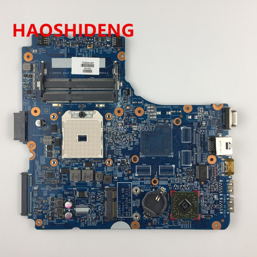 722824-001 for HP ProBook 445 G1 455 G1 series laptop  Motherboard.All functions fully Tested ! 598670 001 motherboard for hp probook 4520s 4720s 48 4gk06 011 h9265 1 tested ok