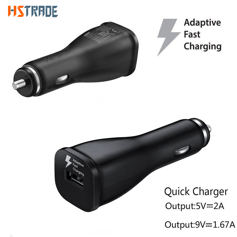 HSTRADE USB Car - Charger 2.0 Quick Charge Adapter for Samsung Galaxy S8 S9 S7 S6 edge HTC Xiaomi iPhone Fast car Car Charger
