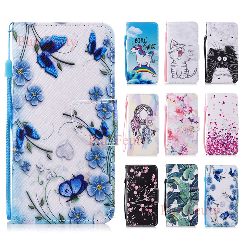 <font><b>Case</b></font> For Huawei Y6 2018 ATU-L21 ATU-L22 L11 LX3 Flip Wallet Lovely Pattern PU Leather For Huawei <font><b>Honor</b></font> <font><b>7A</b></font> <font><b>5.7</b></font> <font><b>inch</b></font> <font><b>Silicone</b></font> Bag image