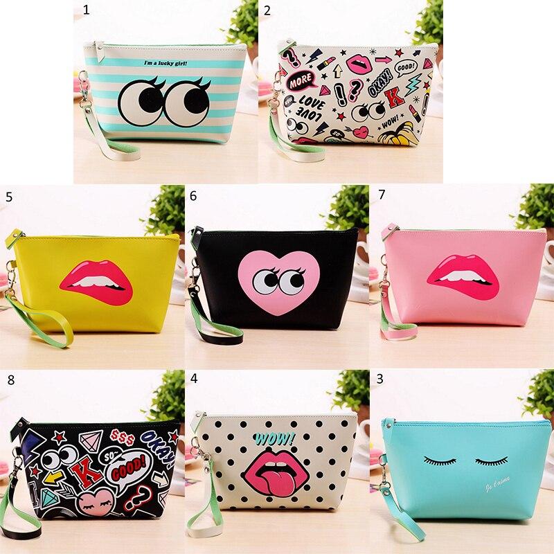 1PC Fashion Beautician Cosmetic Bag Cute Cosmetic Makeup Bag Purse Wash Organizer Pouch Pencil Case Traveling Bags