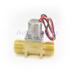 Image 4 - Latão G1/2 polegada miniatura louças sanitárias Indução biestável pulso válvula solenóide de controle da água, válvula de poupança de energia