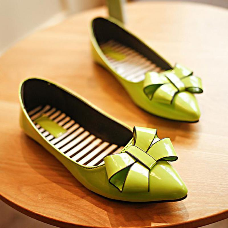 2018 Hot Sale Fashion Women Flat Shoes Ballerina Flats Loafers Summer Casual Comfortable Pointed Toe Bow Lazy Flat Driving Shoes instantarts women flats emoji face smile pattern summer air mesh beach flat shoes for youth girls mujer casual light sneakers