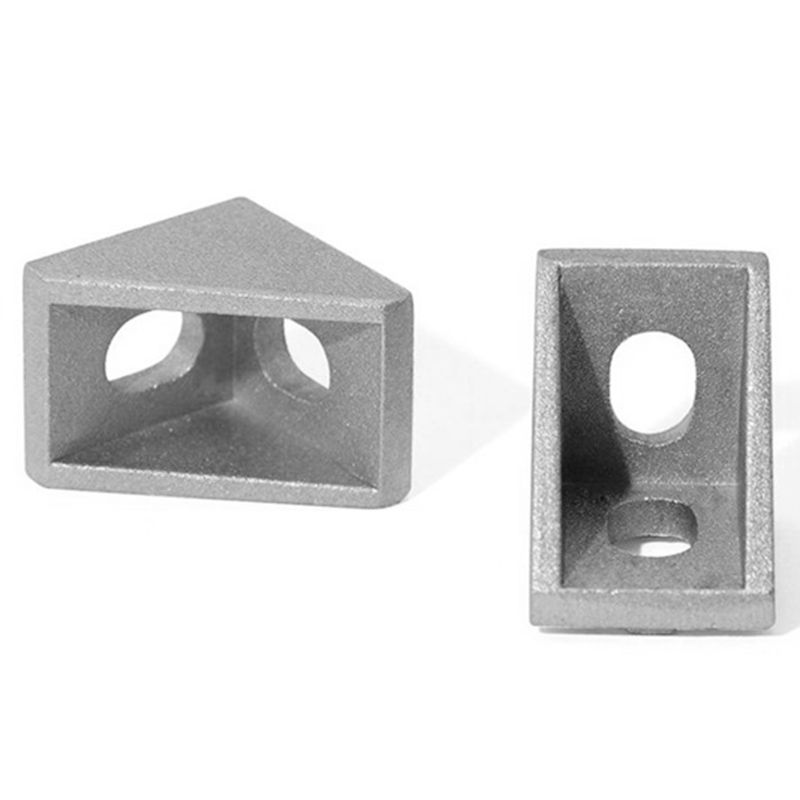 100Pcs 2020 Corner Bracket Fittings Slot 6 Corner Angle L Breakets Connector Aluminum Profile Accessories100Pcs 2020 Corner Bracket Fittings Slot 6 Corner Angle L Breakets Connector Aluminum Profile Accessories