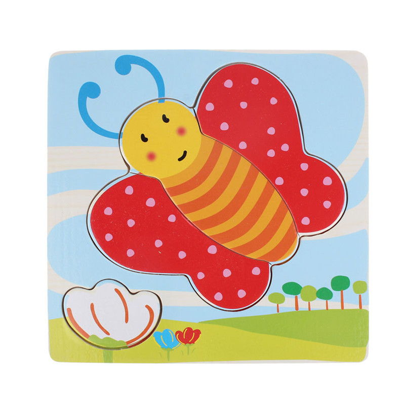 Cute Butterfly Wooden Jigsaw Educational Developmental Baby Kids ...