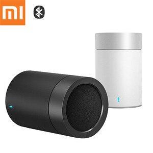 Image 1 - Oryginalny Xiao mi mi głośnik Bluetooth 4.1 Cannon 2 stali nierdzewnej pistolet odbieranie bez użycia rąk odtwarzacz muzyczny z mi c regał do iphone MP3 PC