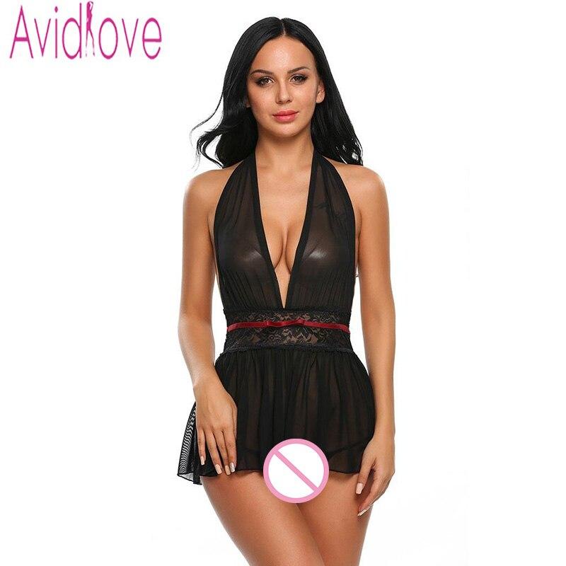 Avidlove Erotic Lingerie Sleepwear Women Sexy Lingerie Negligee Hot Erotic Sexy Clothes Costumes Lenceria Pyjamas Pajamas