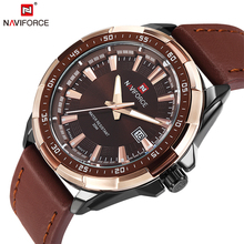 2018 NAVIFORCE Brand Men s Fashion Casual Sport Watches Men Waterproof Leather Quartz Watch Man military