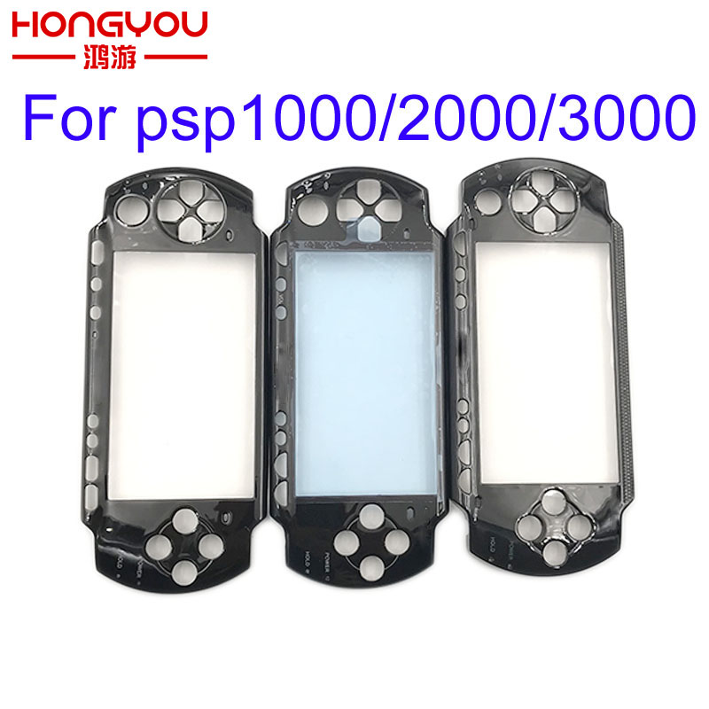 10pcs Black Front Face Plate Faceplate Shell Case Cover Replacement For Sony PSP 1000 1001 2000